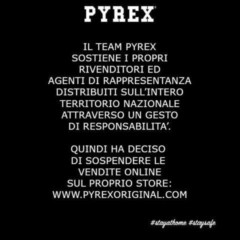 Pyrex Original sospende le vendite online sul proprio store
